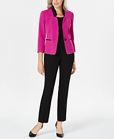 Contrast Single-Button Suit