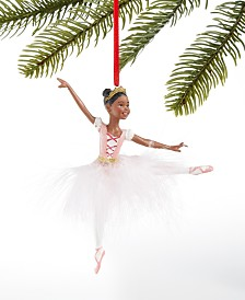 Holiday Lane Ballet Ballerina with White Feather Tutu Ornament, Created for Macy's