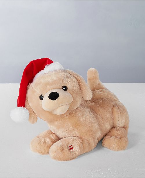 """Holiday Lane 11""""L Singing Labrador Retriever Puppy with Moving Mouth and Tail, Sings """"Jingle Smell"""", Created for Macy's"""
