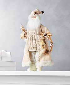Holiday Lane Seaside Santa with Coast Wreath, Created for Macy's