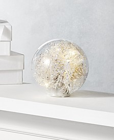 Shine Bright Glass Dome with Christmas Tinsel, Created for Macy's