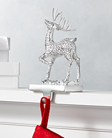 Holiday Lane Shine Bright Metal Reindeer Stocking Holder, Created for Macy's