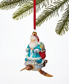 Seaside Santa Riding a Turtle Ornament, Created for Macy's