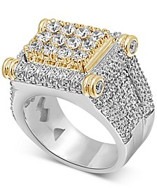 Men's Diamond Two-Tone Statement Ring (4-3/4 ct. t.w.) in 10k Gold & White Gold