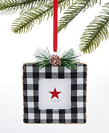Holiday Lane Upstate Plaid Photo Frame Ornament, Created for Macy's