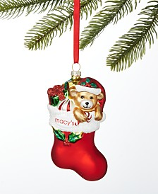 Holiday Lane Macy's Stocking with Gifts Ornament, Created For Macy's