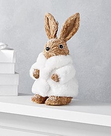 Shimmer and Light Rabbit with Fur Coat, Created for Macy's