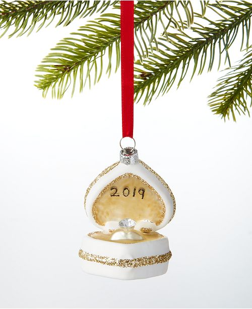 Macys Christmas Ornaments 2020 Holiday Lane Our First Molded 2020 Glass Engagement Ring Ornament