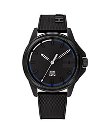 Men's Black Silicone Watch 42mm