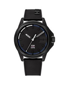Tommy Hilfiger Men's Black Silicone Watch 42mm