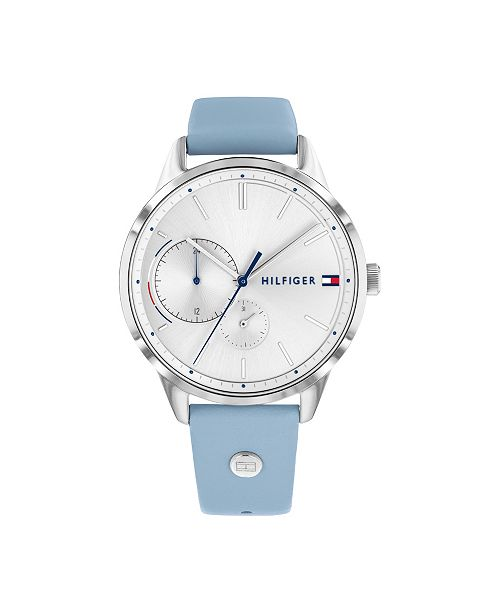 Tommy Hilfiger Womens Blue Leather Bracelet Watch 38mm, Created for Macy's
