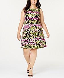 Plus Size Jewel-Neck Dress