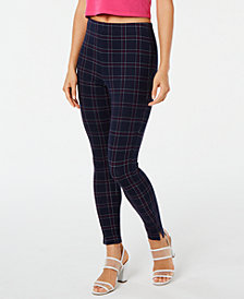 HUE® Windowpane Knit High-Waist Cropped Skimmer Leggings