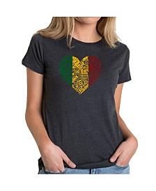 Women's Premium Word Art T-Shirt - One Love Heart
