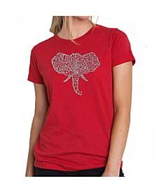 Women's Premium Word Art T-Shirt - Elephant Tusks