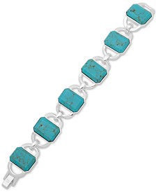 Lauren Ralph Lauren Silver-Tone Stone Flex Bracelet