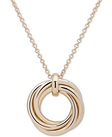 "Gold-Tone Love Knot 36"" Pendant Necklace"