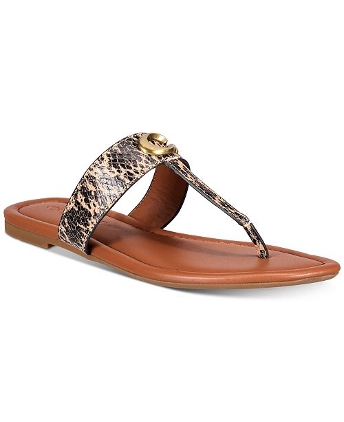 COACH Women's Jessie Buckle Thong Sandals