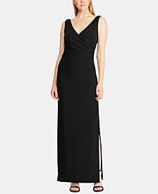 Rhinestone-Pin Strapless Jersey Gown