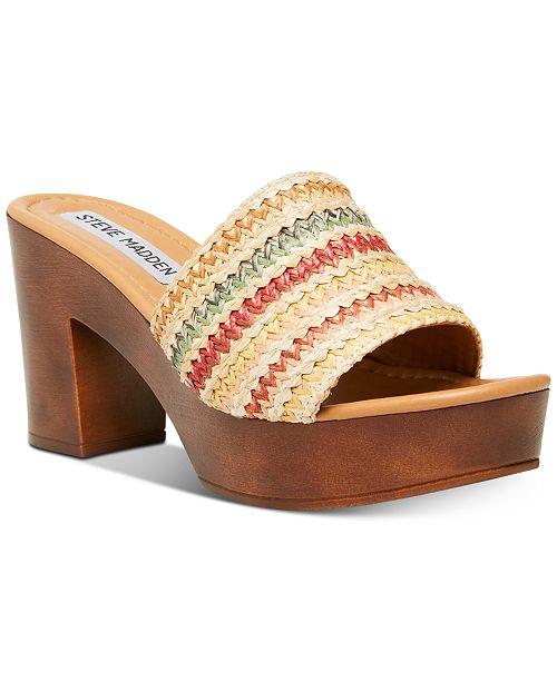Womens Fran Wooden Platform Sandals
