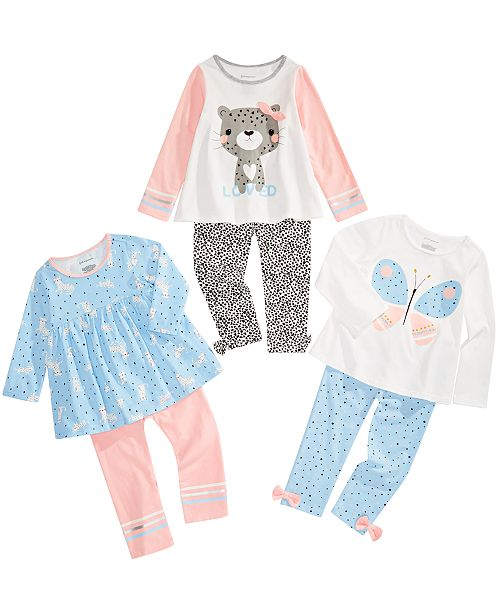 First Impressions Toddler Girls Animal Print Mix & Match Separates, Created for Macy's