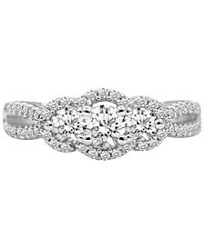 Diamond Bridal Set (1-1/8 ct. t.w.) in 14k White Gold