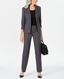 Le Suit Petite Single-Button Pants Suit