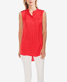 High-Low Sleeveless Shirt