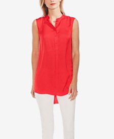 Vince Camuto High-Low Sleeveless Shirt