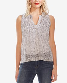 Vince Camuto Shadow-Etch Pleated Top