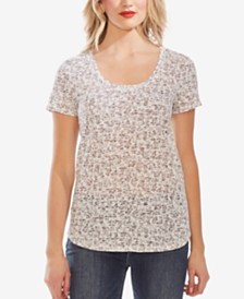 Vince Camuto Printed Scoop-Neck Top