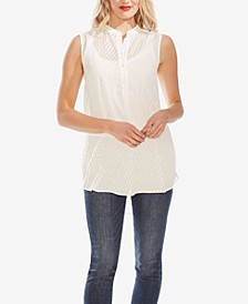 Sleeveless Semi-Sheer Blouse