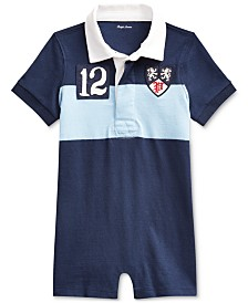Polo Ralph Lauren Baby Boys Jersey Rugby One-Piece Shortall