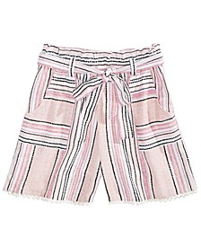 Big Girls Waist-Tie Shorts