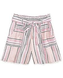 Big Girls Waist-Tie Shorts