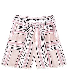 Monteau Big Girls Waist-Tie Shorts