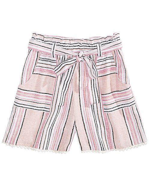 Monteau Big Girls Waist-Tie Shorts