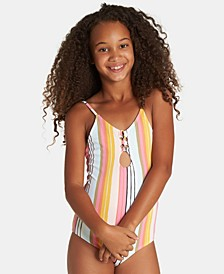 Big Girls 1-Pc. Sunny Song Striped Swimsuit
