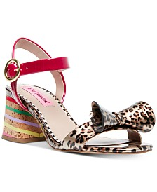Betsey Johnson Lanore Ankle Strap Bow Sandals