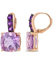 Amethyst (15-1/2 ct. t.w.) Drop Earrings in 18k Rose Gold over Sterling Silver