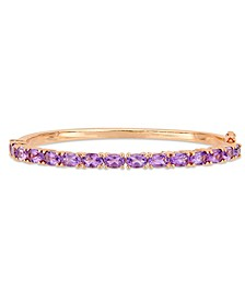 Amethyst (6 ct. t.w.) Bangle in 18k Rose Gold over Sterling Silver