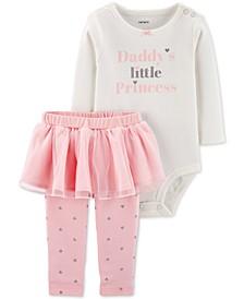 Baby Girls 2-Pc. Bodysuit & Tutu Leggings Set