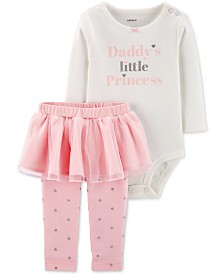 Carter's Baby Girls 2-Pc. Bodysuit & Tutu Leggings Set
