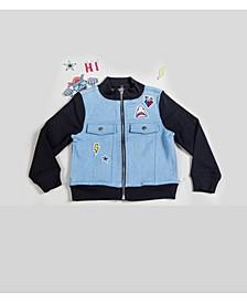 Boy's Mixed Media Patchwork Jacket