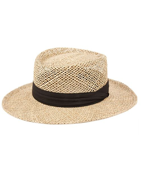 Epoch Hats Company Gambler Straw Hat with Grosgrain Band