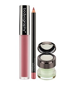 Bodyography Lip Scrub, Balm, Lip Pencil, Liquid Lipstick Bundle