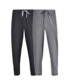 Hanes Men's Big and Tall Knit Pant, 2 Pack