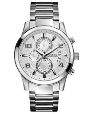 Guess Watch, Men's Chronograph Stainless Steel Bracelet 44mm U0075G3