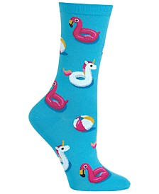 Women's Pool Float Fashion Crew Socks