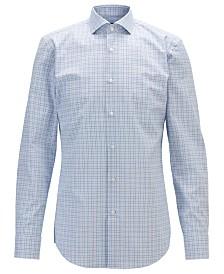 BOSS Men's Jason Slim-Fit Checked Cotton Shirt